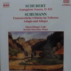 Schubert Arpeggione Sonata; Schumann Fantasiestucke - Maria Kliegel,Kristin Merscher