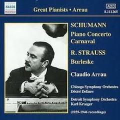 Schumann - Piano Concerto Carnaval (No. 1) - Claudio Arrau,Chicago Symphony Orchestra,Detroit Symphony Orchestra
