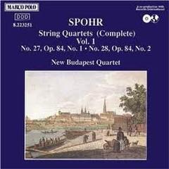 Spohr - String Quartets Vol 1 - New Budapest Quartet