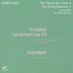 John Cage - 44 Harmonies From Apartment House 1776; Cheap Imitation CD 1 (No. 2) - Arditti Quartet