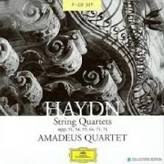 Haydn - String Quartets, Opp. 51, 54, 55, 64, 71, 74  Disc 6 - Amadeus Quartet
