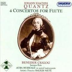 Quantz - 4 Flute Concertos  - Balázs Máté,Aura Musicale