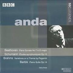 Geza Anda Plays Beethoven;  Schumann; Brahms; Bartók