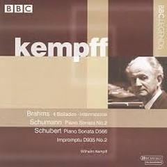 Kempff Plays Schubert, Brahms & Schumann