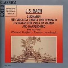 J.S.Bach - 3 Sonaten Für Viola Da Gamba And Cembalo; 3 Sonatas For Viola Da Gamba And Harpsichord - Wieland Kuijken,Leonhardt Gustav