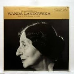 Landowska Memorial Edition (No. 1) - Wanda Landowska