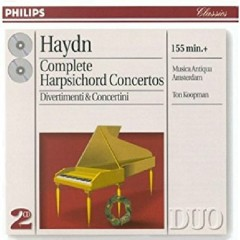 Haydn - Complete Harpsichord Concertos, Divertimenti & Concertini CD 1 - Ton Koopman, Musica Antiqua Amsterdam