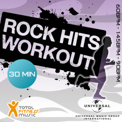 Rock Hits Workout 60 - 145 - 90bpm Ideal For Cardio Machines, Circuit Training, Jogging, Gym Cycle & General Fitness - Various Artists