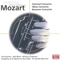 Mozart: Concertos for Clarinet, Oboe & Bassoon - Jack Brymer,Neil Black,Michael Chapman,Academy of St. Martin in the Fields,Sir Neville Marriner