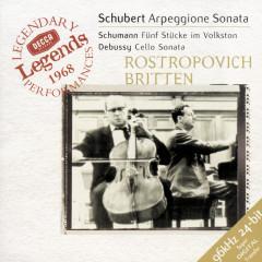 Schubert: Arpeggione Sonata / Schumann: 5 Stücke in Volkston / Debussy: Cello Sonata - Mstislav Rostropovich,Benjamin Britten