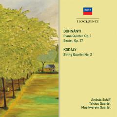 Dohnanyi: Piano Quintet No. 1, Sextet / Kodaly: String Quartet No. 2 - András Schiff,Takács Quartet,Musikverein Quartet,Kalman Berkes,Radovan Vlatkovic