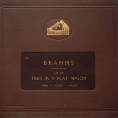 Brahms - Trio In E Flat Major For Piano