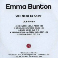 All I Need To Know (Club Promo)