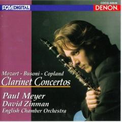 Mozart Busoni Copland Clarinet Concertos