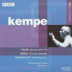 Haydn - Symphony No. 104; Britten - Four Sea Interludes; Shostakovich - Symphony No. 1