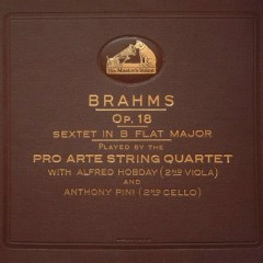 Sextet No. 1 In B Flat Major, Op. 18  For Two Violins, Two Violas And Two Cellos