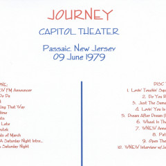 Capitol Theater Passaic NJ CD2 - Journey