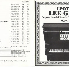 Complete Recorded Works In Chronological Order Vols.1 (CD1) - Lee Green