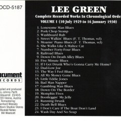 Complete Recorded Works In Chronological Order Vols.1 (CD2) - Lee Green