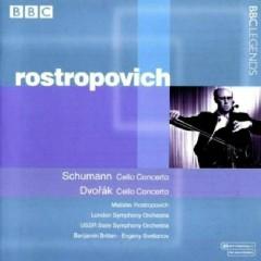 Schumann - Cello Concerto, Op.129; Dvorak - Cello Concerto, Op.104; Tchaikovsky - Pezzo Capriccioso - Benjamin Britten,Evgeny Svetlanov,London Symphony Orchestra