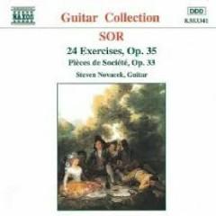 Sor - 24 Exercises, Op. 35; Pièces De Société, Op. 33 (No. 2) - Steven Novacek