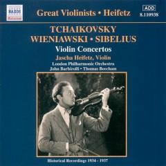 Tchaikovsky, Wieniawski, Sibelius - Violin Concertos - Jascha Heifetz, Sir John Barbirolli, Thomas Beecham